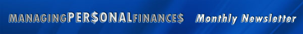 Managing your personal finances home page